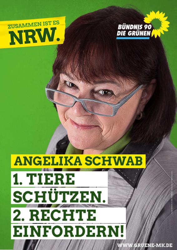 Angelika Schwab, unsere Direktkandidatin für die Landtagswahl