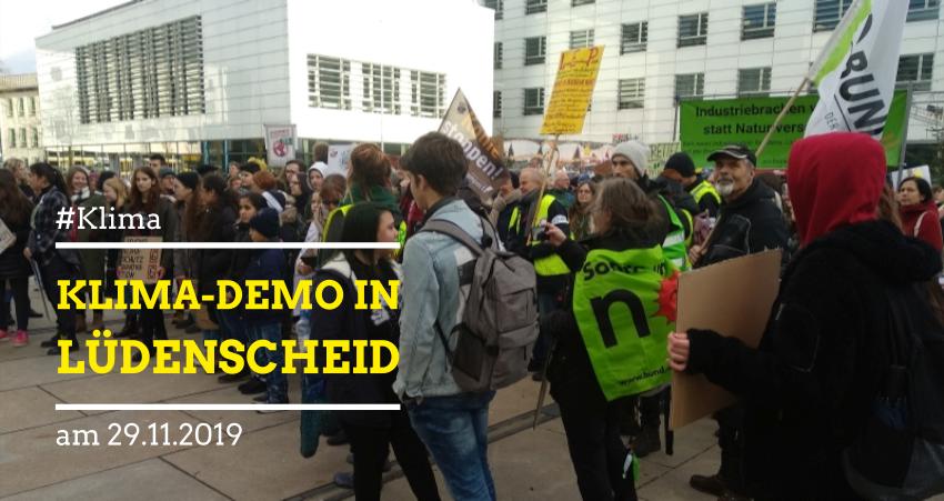 Klimademo am 29.11.2019 in Lüdenscheid